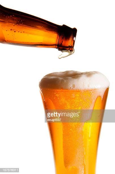 Füllung Glas Bier