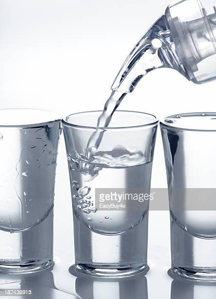 Filling shot glass