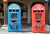 Filling station, Asterix park, near Paris, France