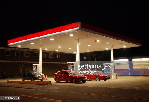 Filling Station at Night, Kent