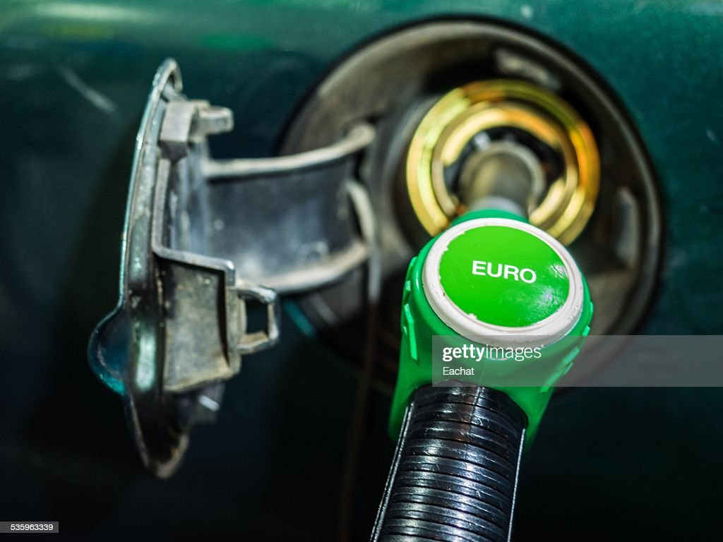 Filling the tank with Euro petrol : Stock Photo