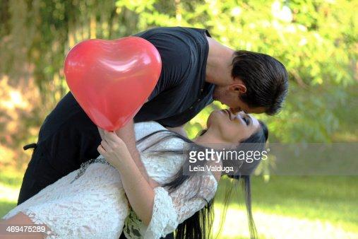 Film a kiss! : Stock Photo