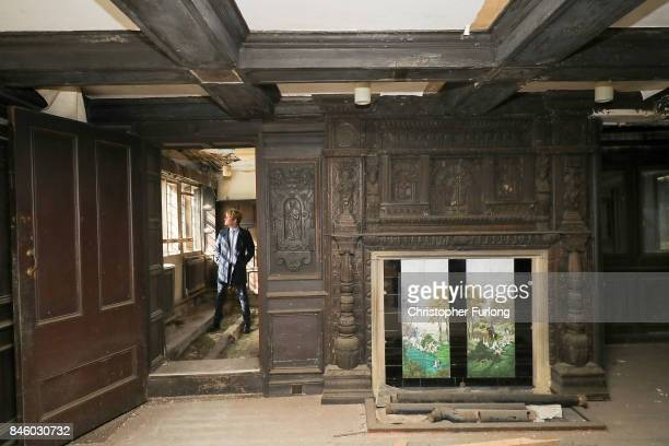 US film actor Hopwood DePree XIV stands inside Hopwood Hall his family's ancestral home that he hopes to restore to its former glory on September 12...