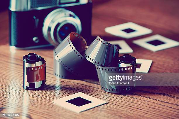Film camera and slides