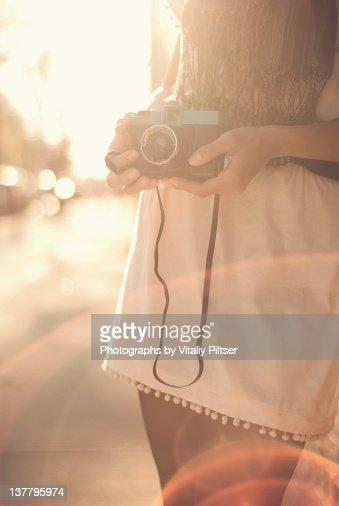 Film camera flare. : Stock Photo