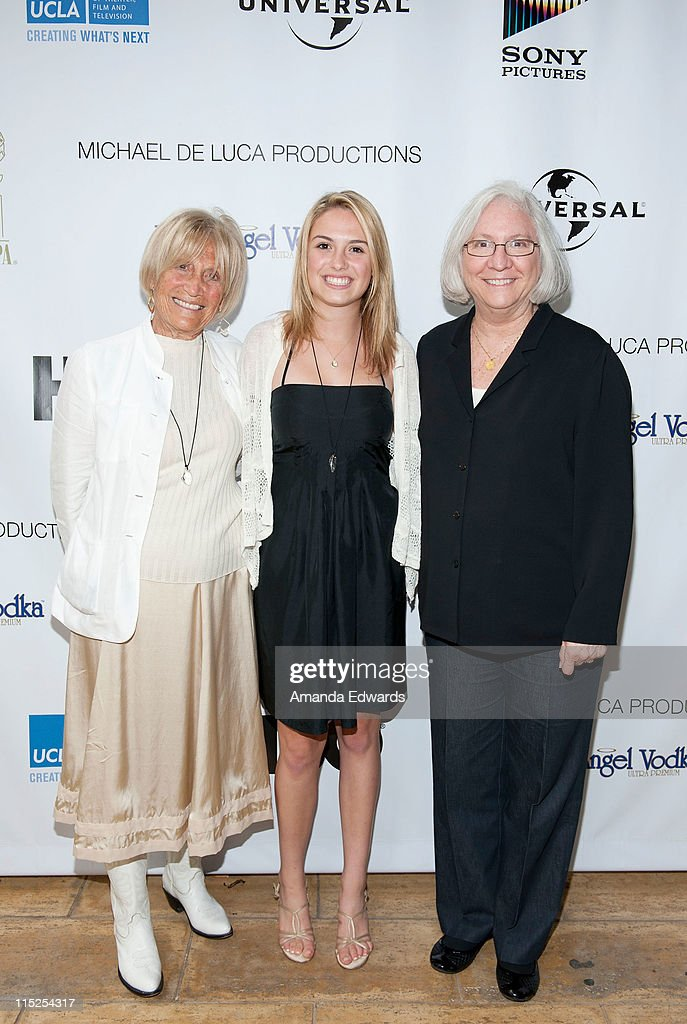 Film Chair Barbara Boyle, Lili Claire Boyle and UCLA School of Theater, Film and Television Dean Teri Schwartz arrive at the UCLA Animation Workshop Festival of Animation at the James Bridges Theater at Melnitz Hall on the UCLA campus on June 4, 2011 in Los Angeles, California.