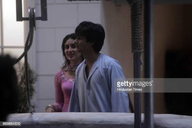 Film Chup Chup Ke Shahid Kapoor and Kareena Kapoor on the sets