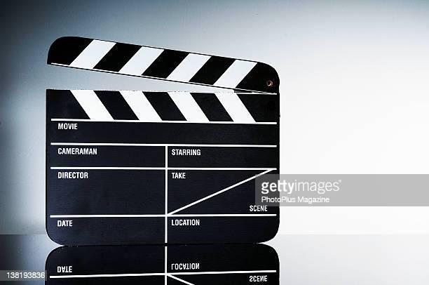 A film clapperboard taken on February 25 2010