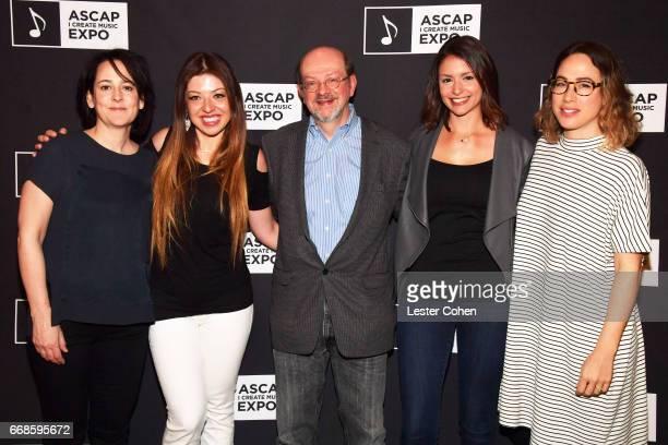 Film composer Lesley Barber composer Pinar Toprak Variety film music writer Jon Burlingame composerviolinist Stephanie Economou and film tv composer...