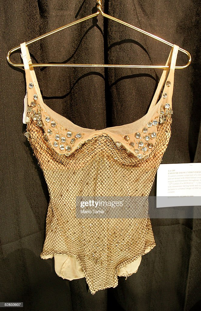 A film costume from the estate of actress Marilyn Monroe is seen during a press preview in Planet Hollywood May 16, 2005 in New York City. Over 200 personal and professional items will be offered in the June 4 sale.