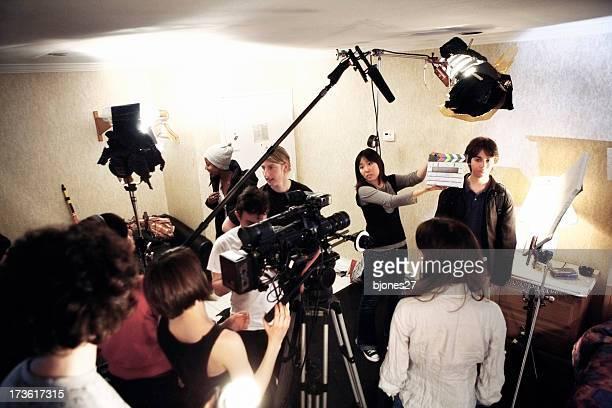 Equipe cinematografica-sul posto