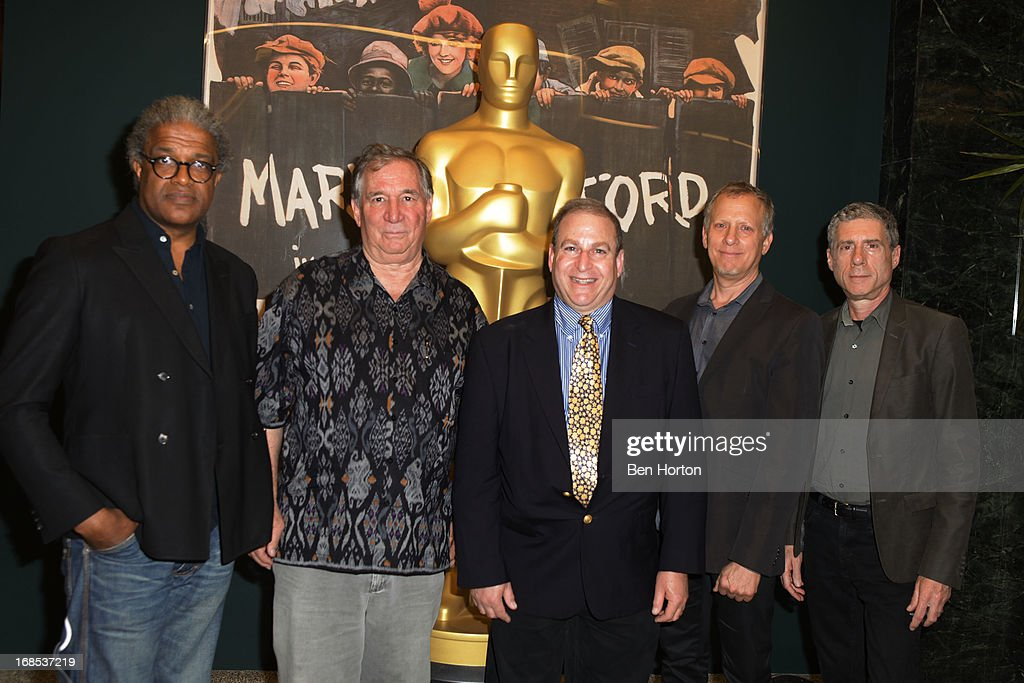 Film critic Elvis Mitchell, cinematographer Robert Fiore, Dennis Doros, producer Rob Epstein and filmmaker Jeffrey Friedman (L,R) attends the Academy of Motion Picture Arts and Sciences' special screening and discussion of Shirley Clarke's 'Portrait Of Jason' at Pickford Center for Motion Study on May 10, 2013 in Hollywood, California.