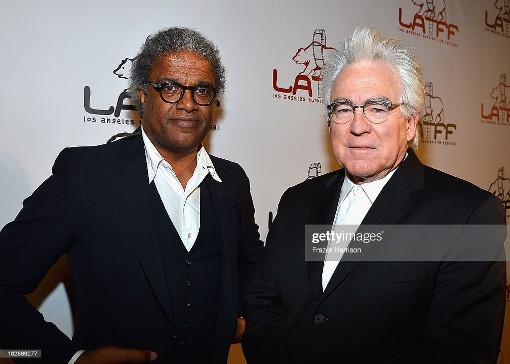 Film Critic Elvis Mitchell, producer Ron Yerxa arrives at the 2013 Los Angeles Turkish Film Festival Opening Night Premiere Of 'The Butterfly's Dream' at the Egyptian Theatre on February 28, 2013 in Hollywood, California.