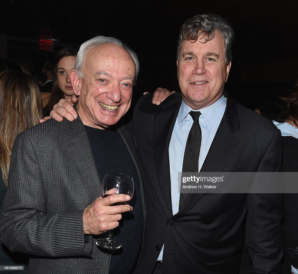 Film critic Joe Morgenstern and Cofounder of Sony Pictures Classics Tom Bernard attend the 2014 New York Film Critics Circle Awards coctail reception...
