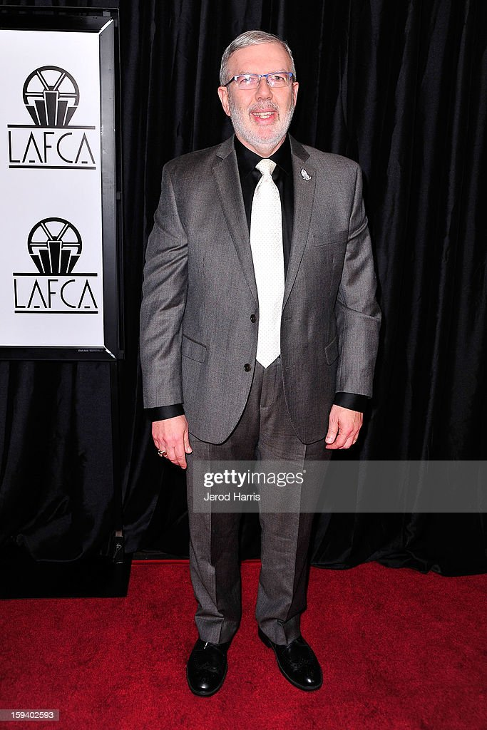Film critic <a gi-track='captionPersonalityLinkClicked' href=/galleries/search?phrase=Leonard+Maltin&family=editorial&specificpeople=208242 ng-click='$event.stopPropagation()'>Leonard Maltin</a> arrives at the 38th Annual Los Angeles Film Critics Association Awards at InterContinental Hotel on January 12, 2013 in Century City, California.