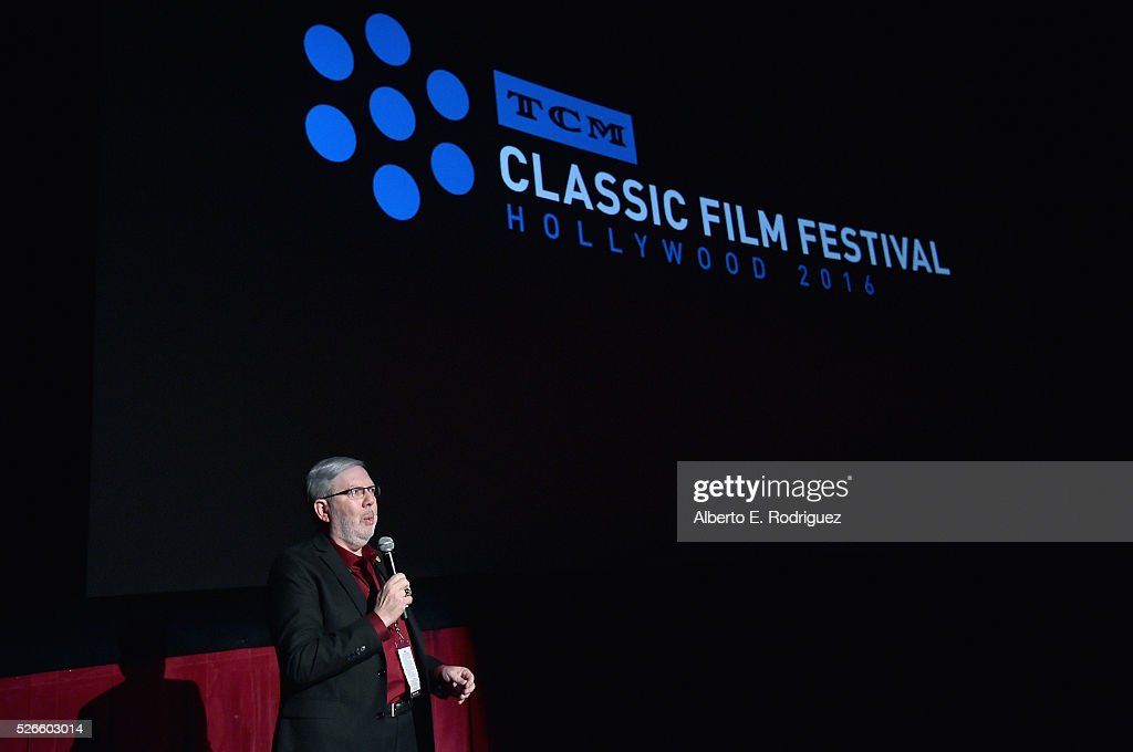 Film critic <a gi-track='captionPersonalityLinkClicked' href=/galleries/search?phrase=Leonard+Maltin&family=editorial&specificpeople=208242 ng-click='$event.stopPropagation()'>Leonard Maltin</a> speaks onstage at 'Intolerance: Love's Struggle Throughout the Ages' screening during day 3 of the TCM Classic Film Festival 2016 on April 30, 2016 in Los Angeles, California. 25826_006