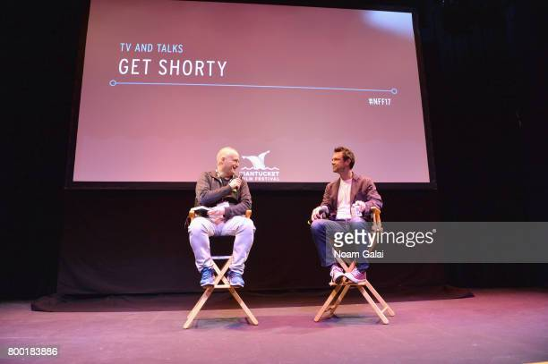 Film critic Matt Zoller Seitz and screenwriter Davey Holmes attend 'TV and Talk Get Shorty' during the 2017 Nantucket Film Festival Day 3 on June 23...