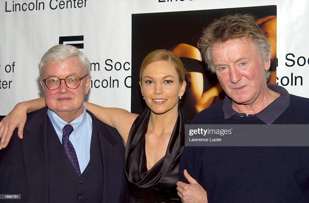 Film critic Roger Ebert, actress Diane Lane and film director Adrian Lyne attend 'Always A Natural: An Evening with Diane Lane' on December 12, 2002 at Walter Reade Theater in New York City.