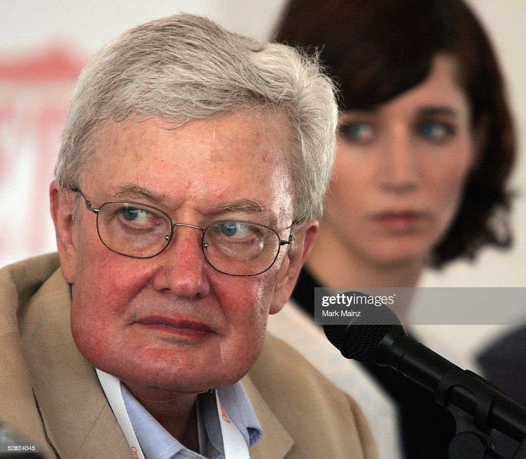 Film Critic Roger Ebert and director Miranda July attends the Variety Cannes Conference series 'The American Directors' discussion panel during the...