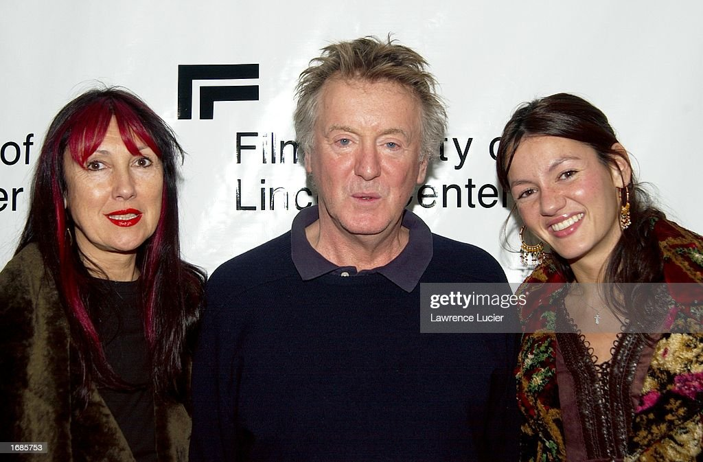 Film director Adrian Lyne (C), his wife Samantha (L) and daughter Amy attend 'Always A Natural: An Evening with Diane Lane' on December 12, 2002 at Walter Reade Theater in New York City.