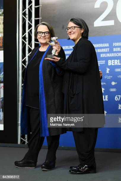 Film director Agnieszka Holland and her daughter and codirector Kasia Adamik winners of the Silver Bear Alfred Bauer Prize attend the award winners...