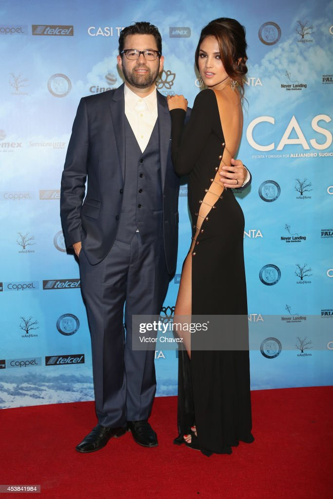 Film director Alejandro Sugich and actress Eiza González attend 'Casi Treinta' Mexico City premiere red carpet at Cinemex Antara Polanco on August 19, 2014 in Mexico City, Mexico.