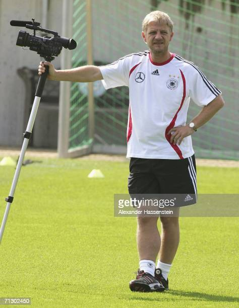 Film Director and former professional football player Soenke Wortmann attends the German National Team training on June 27 2006 in Berlin Germany