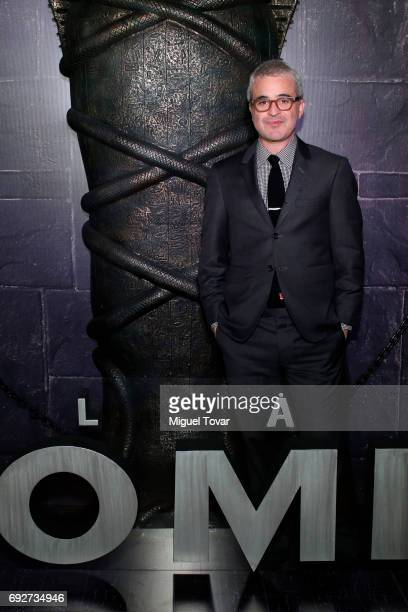 US film director and producer Alex Kurtzman poses for pictures during 'The Mummy' red carpet at Soumaya Museum on June 05 2017 in Mexico City Mexico