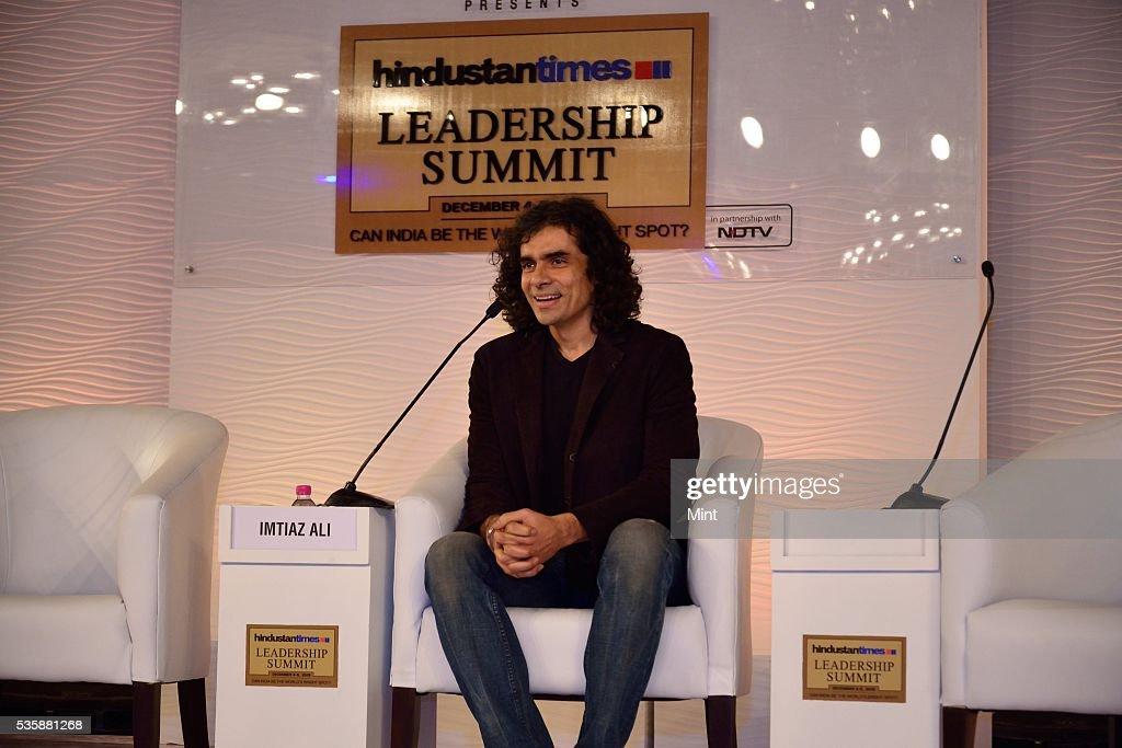 Film director and writer Imtiaz Ali, speaking at Hindustan Times Leadership Summit 2015 on December 5, 2015 in New Delhi, India.