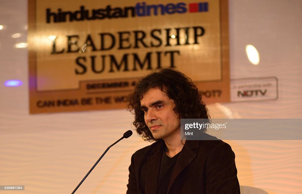 Film director and writer Imtiaz Ali, speaking at Hindustan Times Leadership Summit 2015 on December 5, 2015 in New Delhi, India.