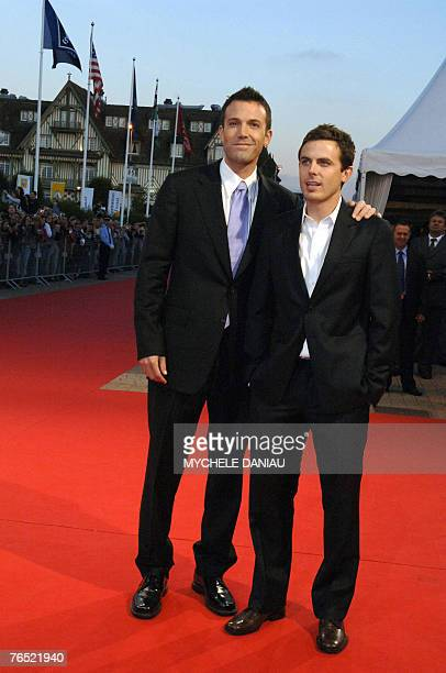 US film director Ben Affleck and US actor Cassey Affleck pose before the screening of 'Gone baby gone' at the 33rd US film festival in Deauville on...