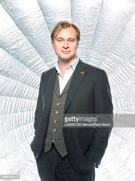 Film director Christopher Nolan is photographed for Paris Match on October 30 2014 in Paris France