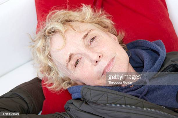 Film director Claire Denis is photographed on May 16 2015 in Cannes France