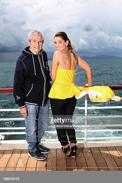 Film director Claude Lelouch and actor Clotilde Couraufor is photographed for Paris Match on May 17 2013 in Cannes France