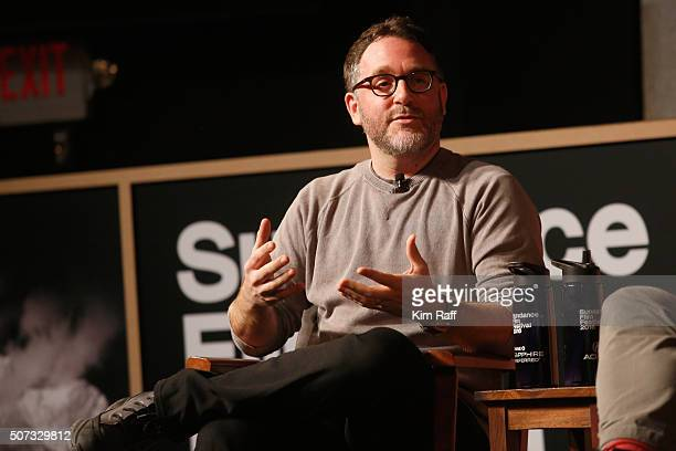Film director Colin Trevorrow speaks onstage at the Power Of Story The Art Of Film during the 2016 Sundance Film Festival at Egyptian Theatre on...