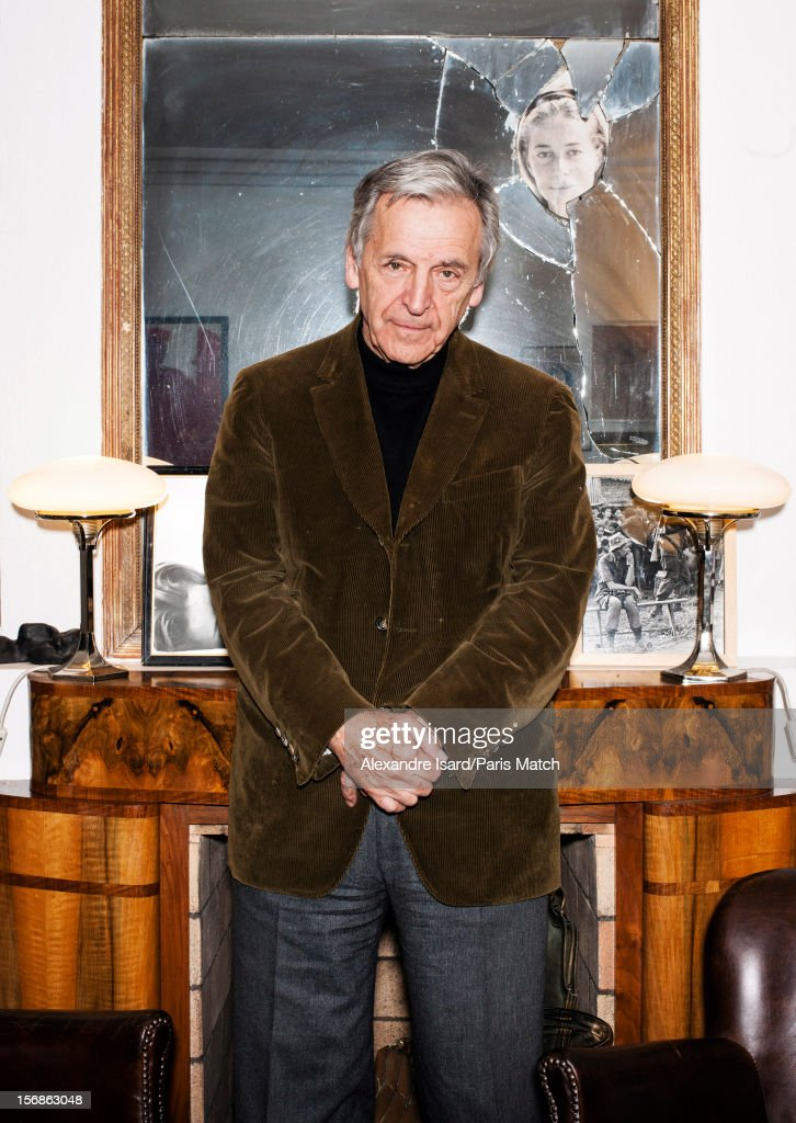 Film director Costa Gavras is photographed for Paris Match on November 6, 2012 in Paris, France.