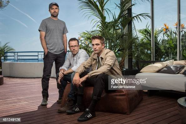 Film director David Michod with actors Guy Pearce and Robert Pattinson are photographed for the Hollywood Reporter in Cannes France