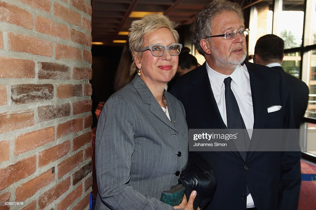 Film director Doris Doerrie (L) and her husband <a gi-track='captionPersonalityLinkClicked' href=/galleries/search?phrase=Martin+Moszkowicz&family=editorial&specificpeople=3273455 ng-click='$event.stopPropagation()'>Martin Moszkowicz</a> attend the FilmFernsehFonds Bayern celebrations at Gasteig Carl-Orff-Saal on April 28, 2016 in Munich, Germany.