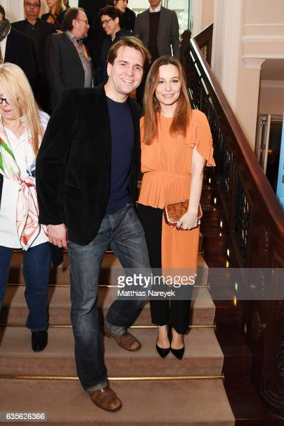 Film director Elmar Fischer and his wife actress Mina Tander attend the FFF Reception 2017 during the 67th Berlinale International Film Festival on...