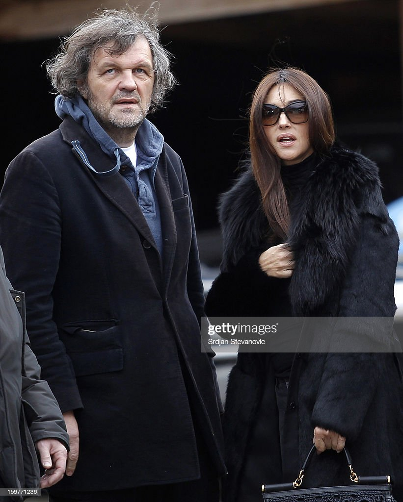 Film director <a gi-track='captionPersonalityLinkClicked' href=/galleries/search?phrase=Emir+Kusturica&family=editorial&specificpeople=210555 ng-click='$event.stopPropagation()'>Emir Kusturica</a> (L) and Italian actress <a gi-track='captionPersonalityLinkClicked' href=/galleries/search?phrase=Monica+Bellucci&family=editorial&specificpeople=204777 ng-click='$event.stopPropagation()'>Monica Bellucci</a> (R) attend day 3 of the Kustendorf Film Festival on January 20, 2013 in Drvengrad, Serbia.
