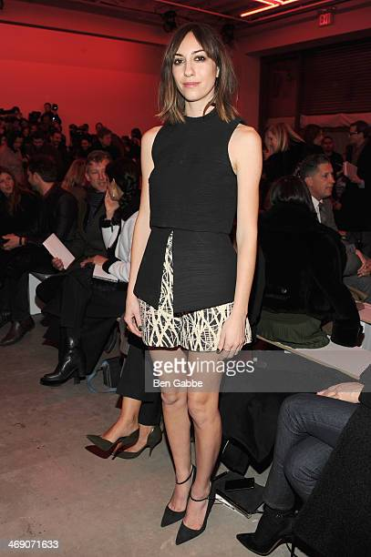 Film Director Gia Coppola attends the Proenza Schouler fashion show during MercedesBenz Fashion Week Fall 2014 on February 12 2014 in New York City