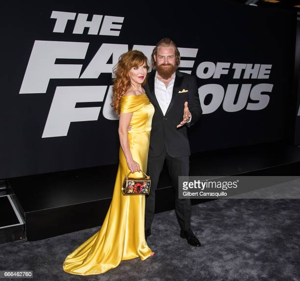 Film director Gry Molvaer Hivju and actor Kristofer Hivju attend 'The Fate Of The Furious' New York Premiere at Radio City Music Hall on April 8 2017...