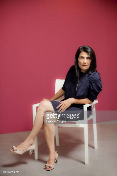 Film director Hiam Abbass from the film 'Inheritance' poses during the 69th Venice Film Festival at the Venice Days on September 5 2012 in Venice...