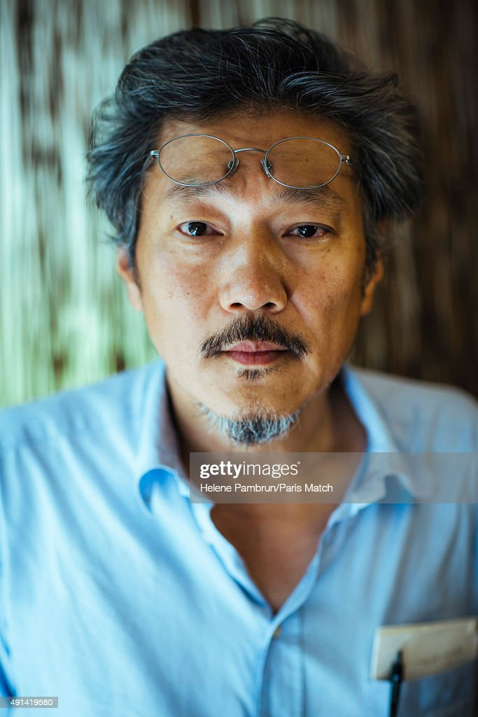 Film director Hong Sang Soo is photographed for Paris Match on August 23, 2015 in Seoul, South Korea.
