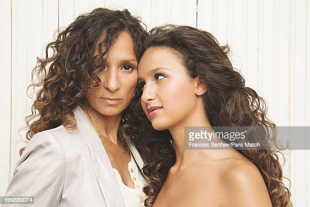 Film director Houda Benyamina is photographed with her sister Oulaya Amamra for Paris Match on August 23 2016 in Paris France