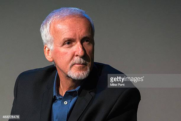 Film Director James Cameron attends 'Meet The Filmmakers' at Apple Store Soho on August 5 2014 in New York City