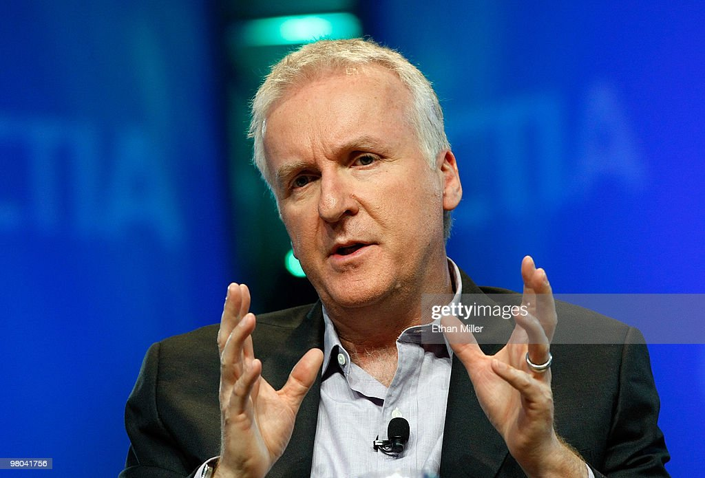 Film director <a gi-track='captionPersonalityLinkClicked' href=/galleries/search?phrase=James+Cameron&family=editorial&specificpeople=206399 ng-click='$event.stopPropagation()'>James Cameron</a> speaks during a round-table discussion at the International CTIA Wireless 2010 convention at the Las Vegas Convention Center March 25, 2010 in Las Vegas, Nevada. CTIA is the international association for the wireless telecommunications industry.