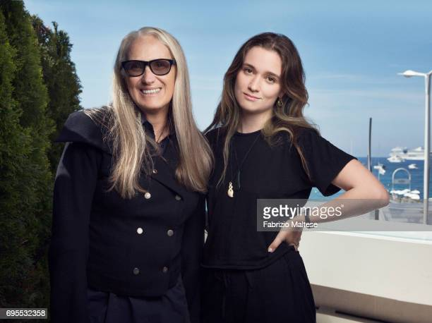 Film director Jane Campion with actor Alice Englert are photographed for the Hollywood Reporter on May 24 2017 in Cannes France
