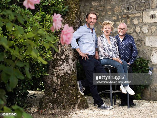 Film director Jean Paul Rouve with actors Annie Cordy and Michel Blanc are photographed for Paris Match on August 22 2014 in Angouleme France
