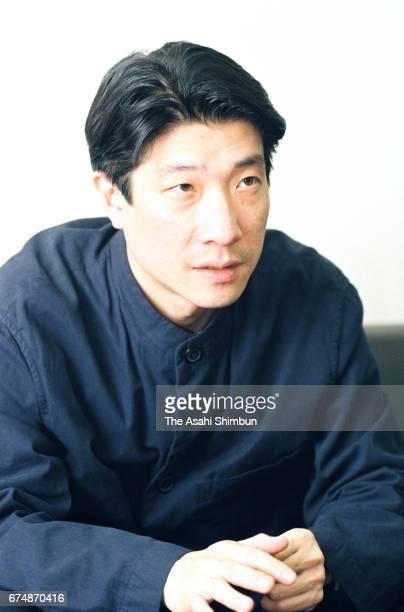 Film Director Junji Sakamoto speaks during the Asahi Shimbun interview on April 8 1997 in Nagoya Aichi Japan